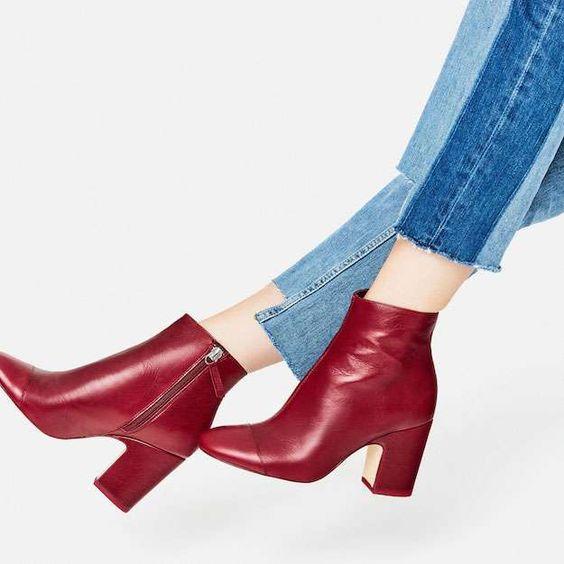 Cómo combinar botas rojas estatemporada