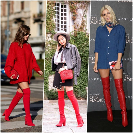collage botas rojas 2