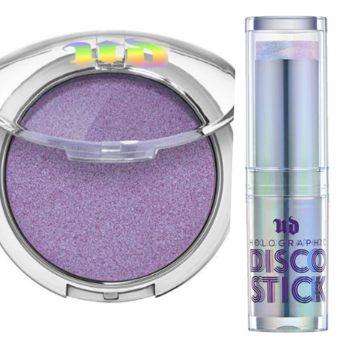 Disco Queen Holographic Highlight Powder, el Iluminador Lila más Chic de Urban Decay