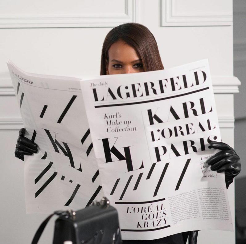 karl lagerfeld x loreal